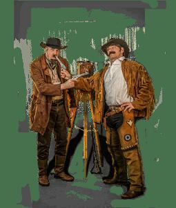 Straattheater rondlopende act De Vogelvrijen - El Capstok