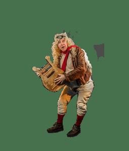 Straattheater rondlopende act De Engel - El Capstok