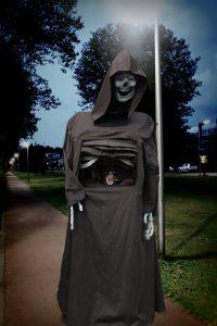 Halloweenact Halloween straattheater