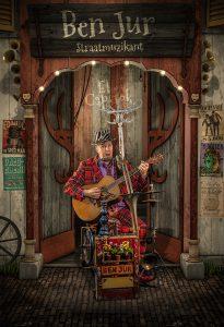 Straatmuzikant Ben Jur -Straattheater El Capstok