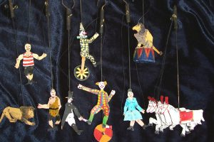 artiesten circus Mini speelman animatie
