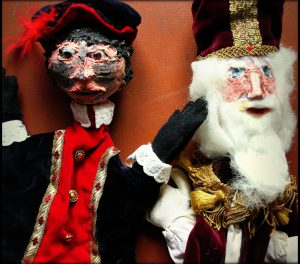 Peter Lies en de staf van Sinterklaas
